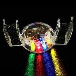 Flashing multicolor mouthpiece - pack of 12