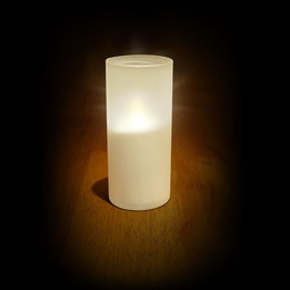 LED Candle light w/frosted vase