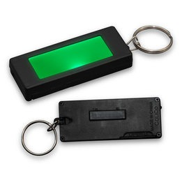 LED Rectangular badge keychain