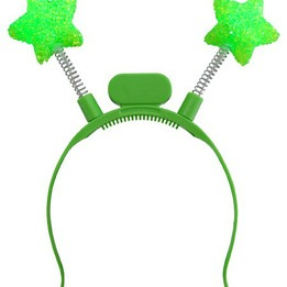 Green star flashing  LED boppers - pack of  12