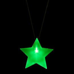 LED Star badge with lanyard
