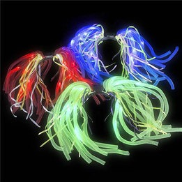Noodle flashing LED boppers - 3  AG13 batteries included & replaceable