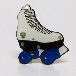 Light-up Roller Skate with butterfly pin