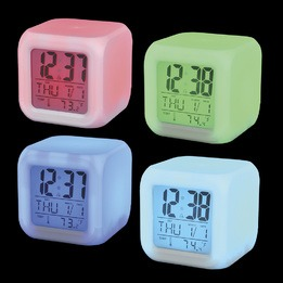 Color changing LED clock