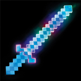 24 inches light up blue pixel sword