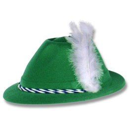 Tyrolean velour hat w/white feather