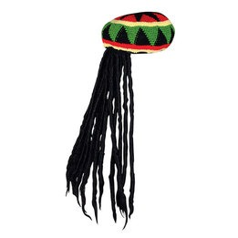 Rasta style cap with braids
