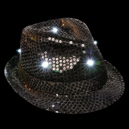 Sequin LED fedora