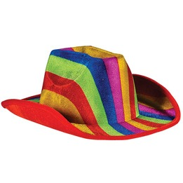 Rainbow cow-boy hat