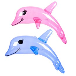 Clear dolphin inflatable 36""