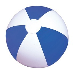 Blue & white 12 inches beach ball - pack of 12