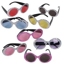Pop star glitter sunglasses