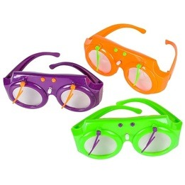 Wind-up Wiper Novelty Glasses 5`