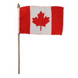 Canada Flag 4 inches x 6 inches-pack of 12