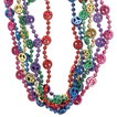 Peace sign bead necklace 33""
