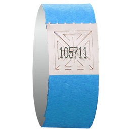 Ligth blue wristband event admission - pack of 12