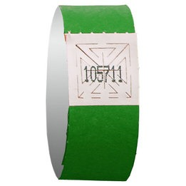 Green wristband event admission - 500 units