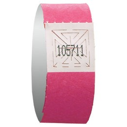 Neon pink wristband event admission - 500 units