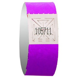 Purple wristband event admission - 500 units