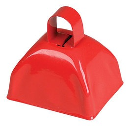 Cowbell - red- pack of 12