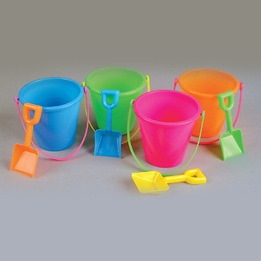 "Beach pail 5"" & shovel"