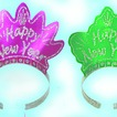 Assorted glittered tiaras - pack of 72
