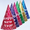 Assorted color party hats- 7 inches - pack of 144