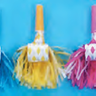 Assorted color musical blowout with matching fringe-pack of 144