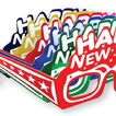 Assorted Happy New Year eyeglasses- pack of 50