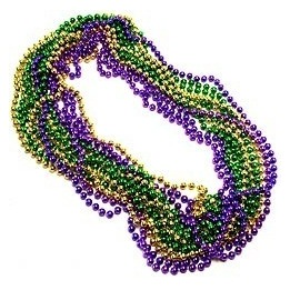 Mardi Gras Beads necklace-pack of 12