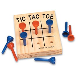 Wooden Tic-Tac-Toe Game - 3""