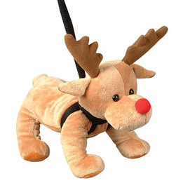 "12"" Pet Reindeer on Leach Plush"