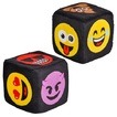 Plush emoticon dice