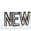 Black foil Happy New Year banner with gold glitter and fringe- pack of 12