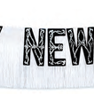 Black foil Happy New Year fringe banner with silver glitter-pack of 12