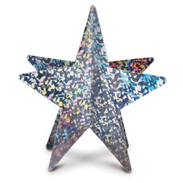 3-D Prismatic star centerpieces 12""
