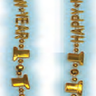 36 inches gold metallic Happy New Year bead - pack of 25