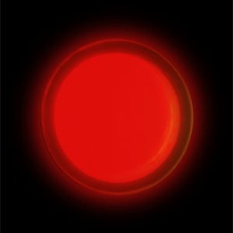 Circle Lightshape w/extra strength adhesive backing packed - Red 4 HRS