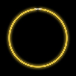 22 inches Glow Necklace - Yellow - ( 50/tube)
