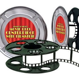 "Movie Reel 9"" With Filmstrip Centerpiece"
