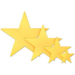 Die Cut Foil Star 12\""