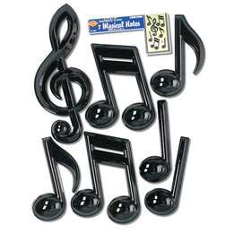 Plastic Musical Note - Black
