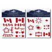 Canada assorted temporary tatoos